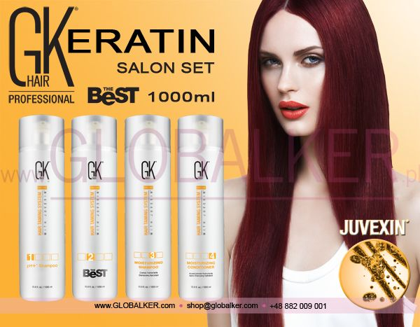 Keratin hair salon set GK Hair The Best 1000ml Global Keratin Juvexin
