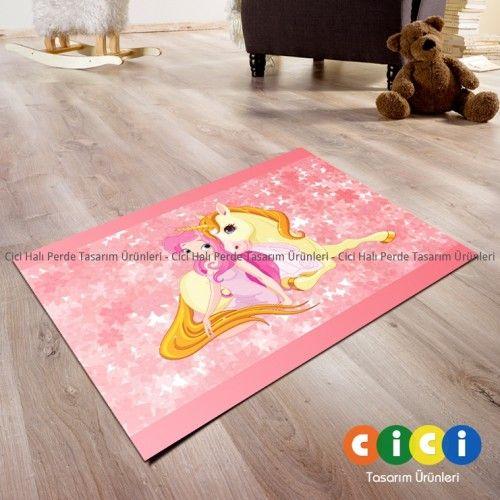 Atlı Prenses Kız Çocuk Odası Halısı