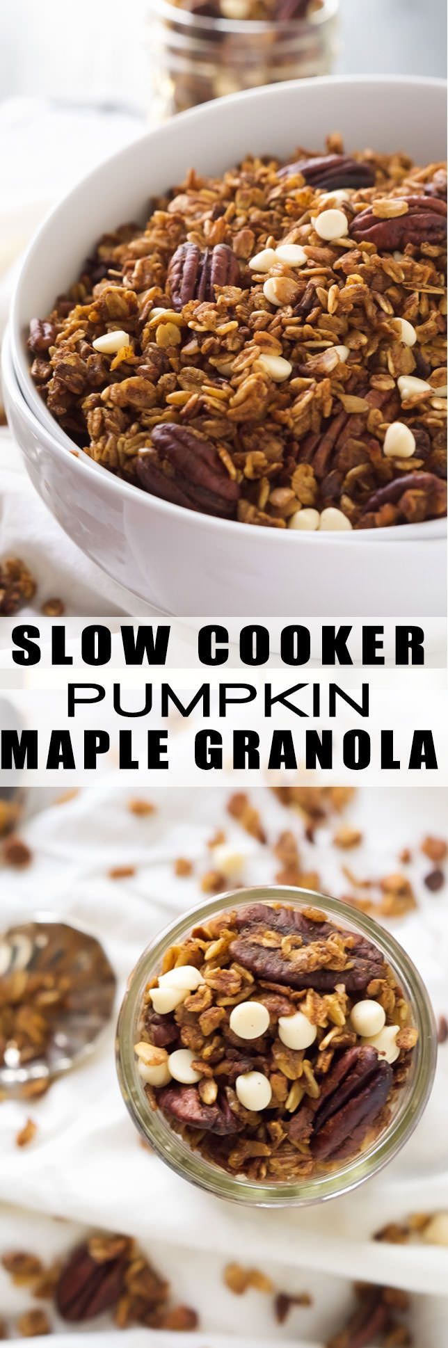 Slow Cooker Pumpkin Granola   Healthy, Crock Pots, Simple. Recipe, Gluten Free, Easy Recipe, Overnight Oatmeal