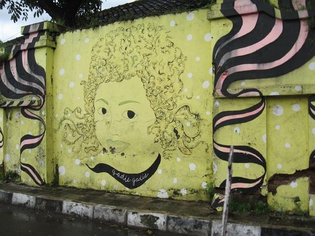 yogyakarta street art via city of walls
