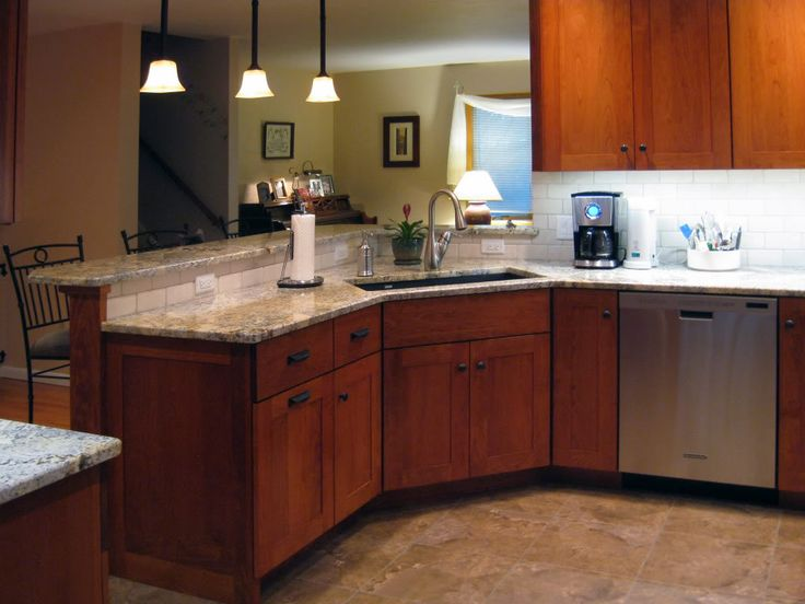 Stunning And Charming Kitchen Sink Base Cabinet Design Ideas Corner With Rectangular On Wooden Granite