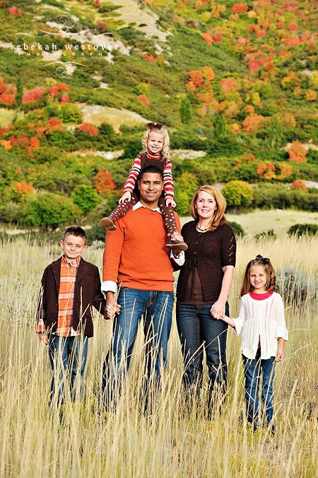 Fall family shoot! Fall clothing styling works great for the outdoors and Landscape Background! :)