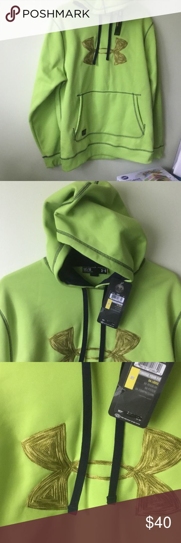 NEW UNDER ARMOUR  HOODIE. M. New UNDER ARMOUR lime    HOODIE. green smoke and pet free home Under Armour Shirts Sweatshirts & Hoodies