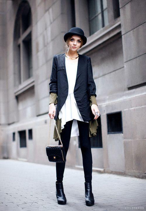 Ekadınca Kadın ve Moda Sitesi | Siyah Blazer Ceket Kombinleri ve Modelleri 2014 | http://www.ekadinca.com
