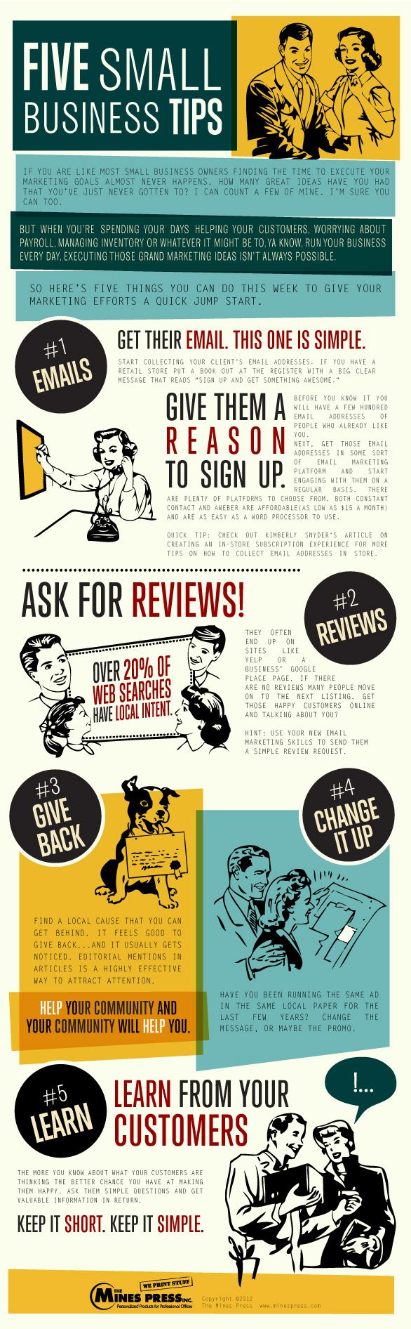 5 small business marketing tips  infographic