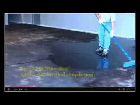 ▶ How to remove black mastic or carpet glue off concrete floor - www.sealgreen.com 800-997-3873 - YouTube