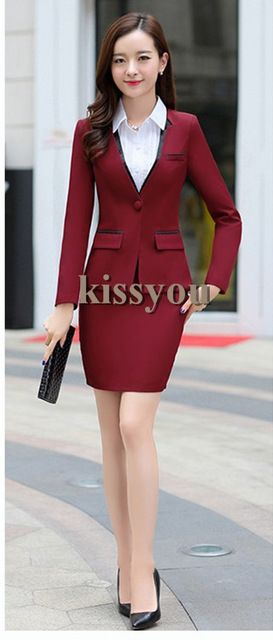 Hot Selling Women Business Suits Female Skirt Suits New Design For Ladies Formal Offic Suits Plus Size XS-4XL US $82.69 /piece    CLICK LINK TO BUY THE PRODUCT  http://goo.gl/oYWEYs