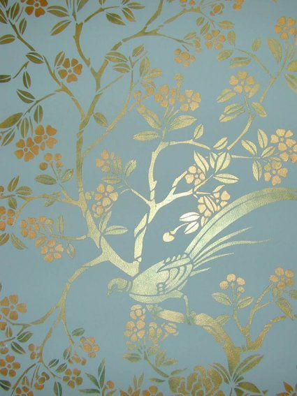 This is a detail shot of one of our chinoiserie panel stencils