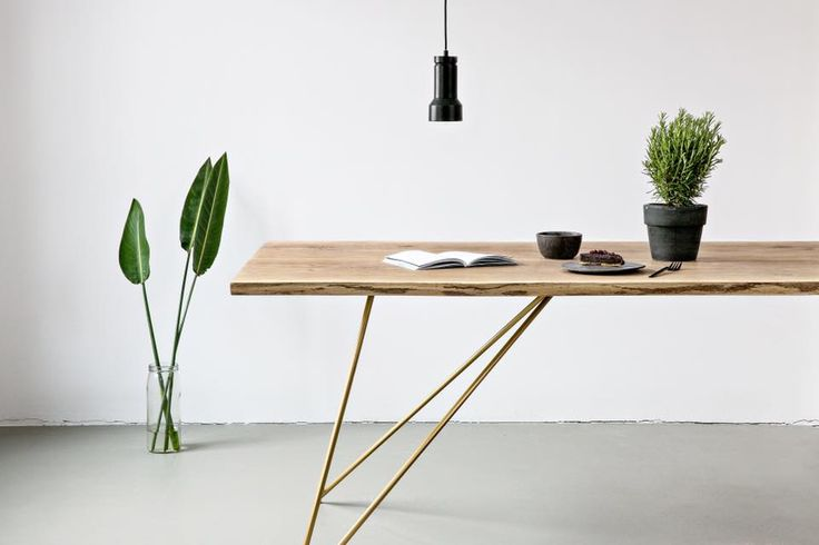 May we introduce to you our new Oak Table Slim. We designed a new table frame made out of beautiful and durable brass..How Do you like our new piece?  #interiordesign #table #brass #minimalism #nutsandwoods #oak #madeinberlin #living #decoration #homedecoration #furniture