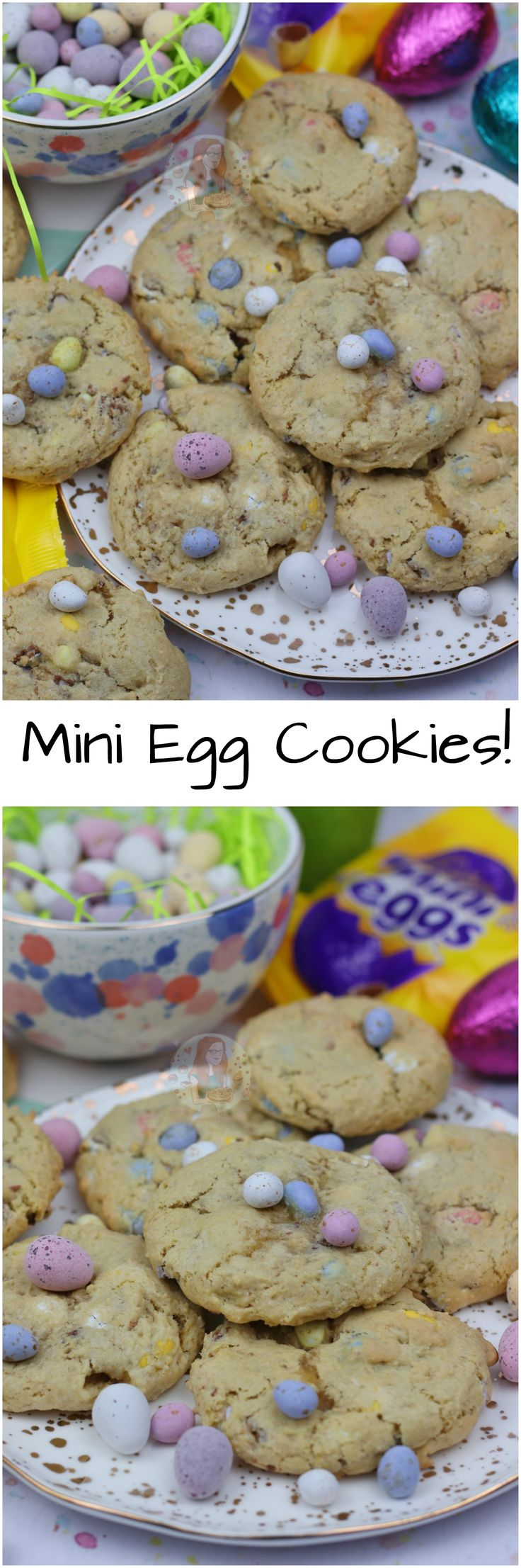 Mini Egg Cookies!! Easy, Simple, Crunchy and Gooey Mini Egg Cookies that are PERFECT for Easter!
