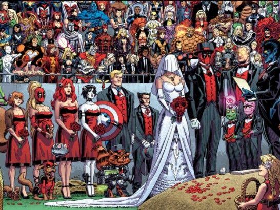 Deadpool Wedding Deadpool Cartoon Marvel Comic Universe Marvel Comics Deadpool