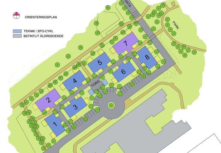 Områdeskarta, Volontären, Halmstad