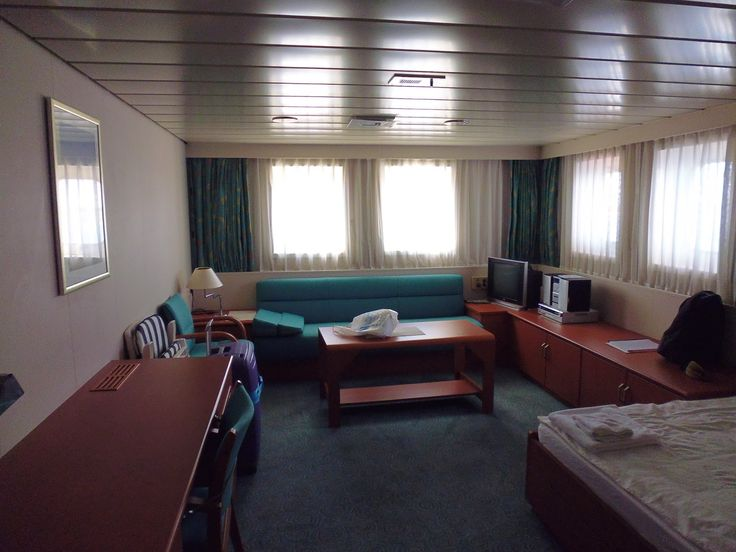 Overland to Hong Kong: Joining the ship - first emotions My Super Cargo cabin on the container ship.  Not as basic as you may think!