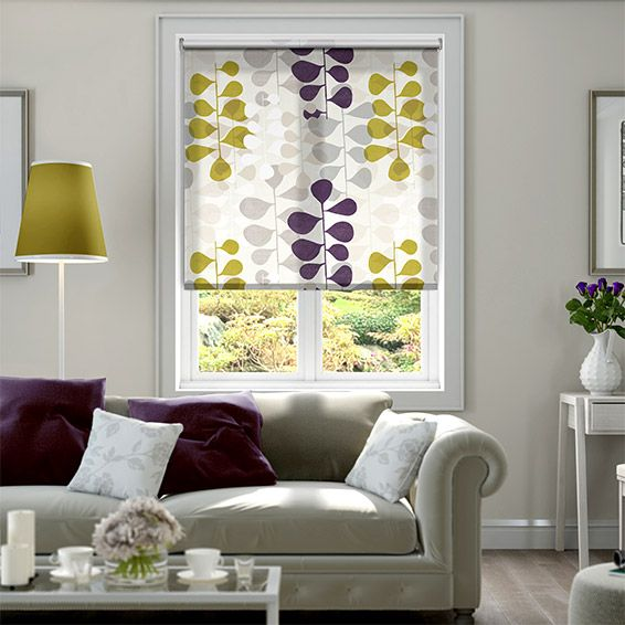 Blooming Meadow Amethyst Roller Blind from Blinds 2go