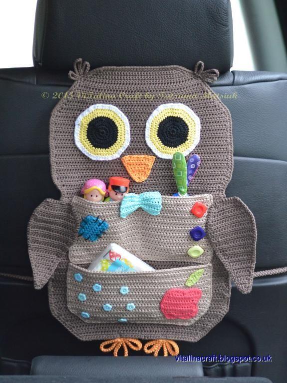 Crocheting : Owl Treasure Organiser - PDF DIGITAL DOWNLOAD