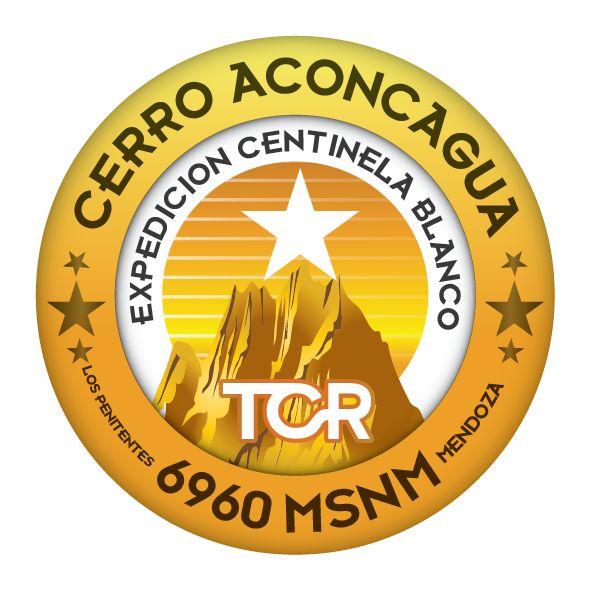 INSIGNIA OFICIAL DE LA EXPEDICION CENTINELA BLANCO. CERRO ACONCAGUA 2016