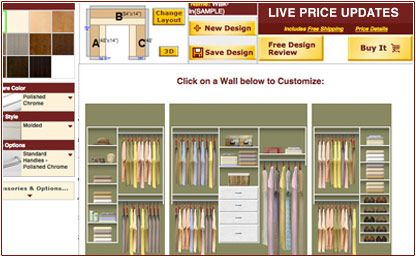 Website to design closets home pinterest design your for Design your own closet