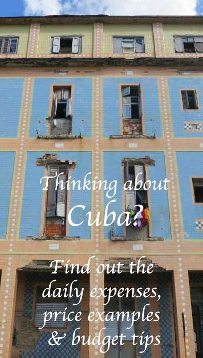 Daily expenses, price examples and budget tips for Cuba | Bunch of Backpackers
