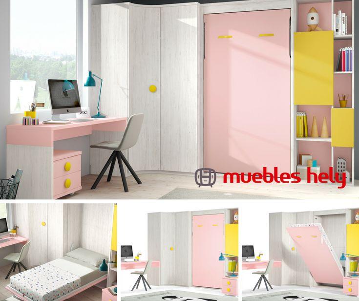 Con las soluciones abatibles de Muebles Hely tendrás una cama disponible con solo 3 pasos 👉https://www.muebleshely.es/   #muebles #abatible #dormir #dormitorios #diseño #furniture #camas #casa