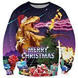 BFUSTYLE 3D Christmas Hässlich Weihnachten Pullover Mantel Pullover Urlaubsreise