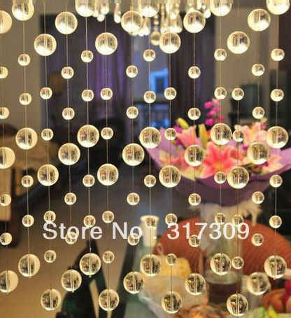 25M/lot Crystal Garland, Clear Round Beads, Glass Crystal Strands, Free Shipping, Wedding & Home Decoration-in Event & Party Supplies from Home & Garden on Aliexpress.com $36.85