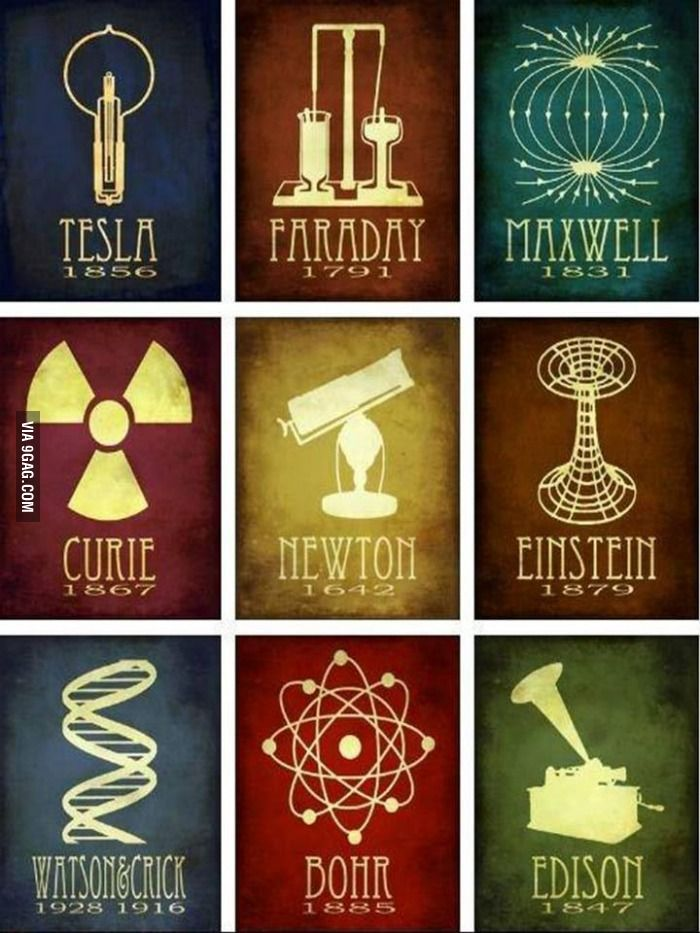 Beautiful posters of the some of the world's greatest scientists.