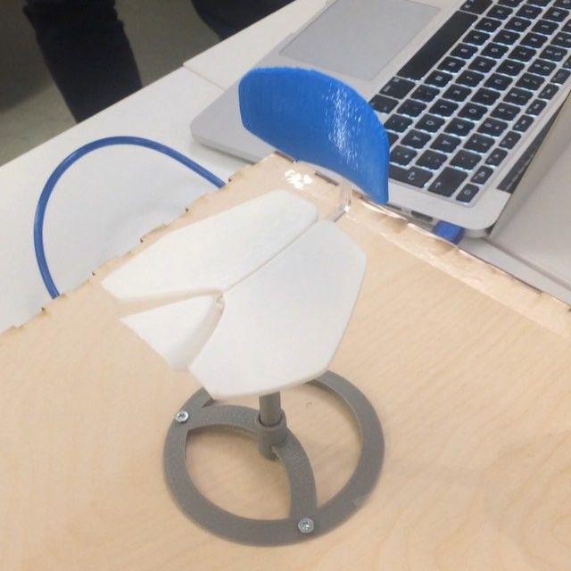 Prototype of office chair from #gegarage #umeågarage #makeathon 48 hr challenge…