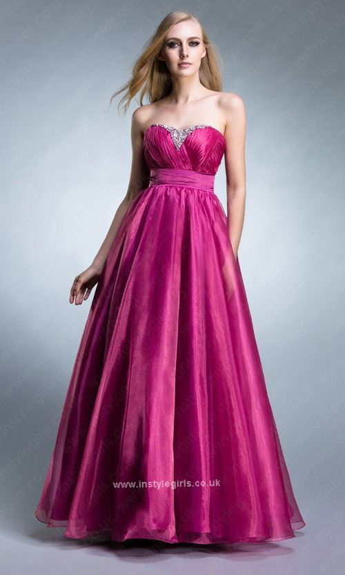 Beaded Sweetheart Neck Empire Waist Princess Dress from Instylegirls