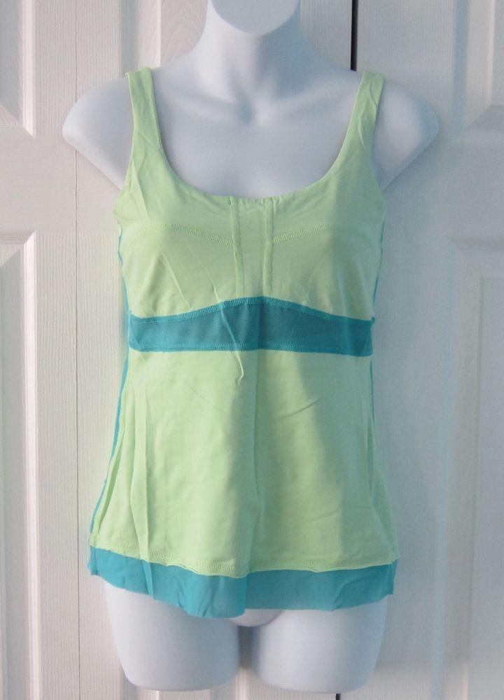 Lululemon green dance floss travel tank top shirt #Lululemon #ShirtsTops
