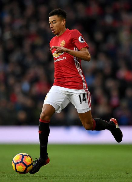Jesse Lingard of Manchester United during the Premier League match between Manchester United and Sunderland at Old Trafford on December 26, 2016 in Manchester, England.