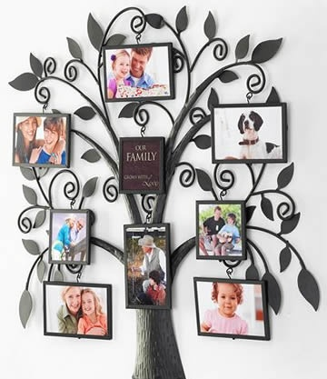 what a gorgeous idea for a family tree wall picture - Collage Photo Frames