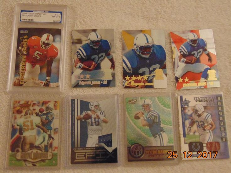 PEYTON MANNING Rookie & GU JERSEY COLTS Edgerrin James G/U Marvin Harrison LOT 8 #IndianapolisColts