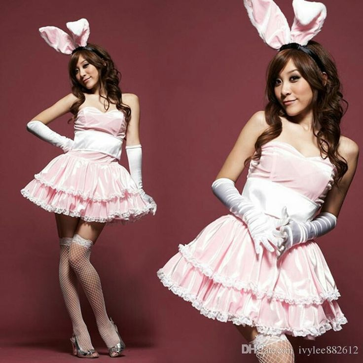 Cute Pink Bunny Costume