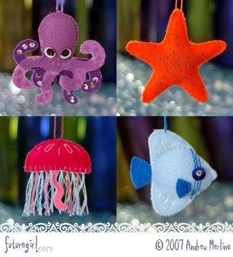 Links With Love: Aquarium Magnets - Felt With Love Designs