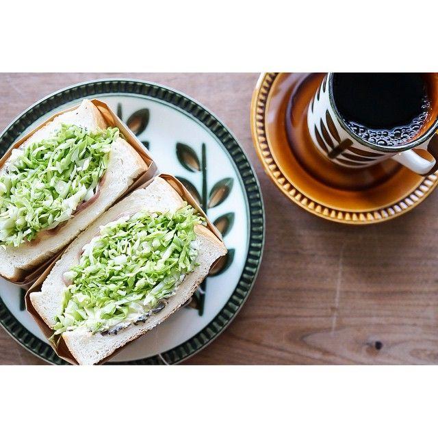 2015.02.21 最近よく見かける #沼サン やってみたよ‼️ 5枚切りの食パンで、キャベツを本当に... | Use Instagram online! Websta is the Best Instagram Web Viewer!
