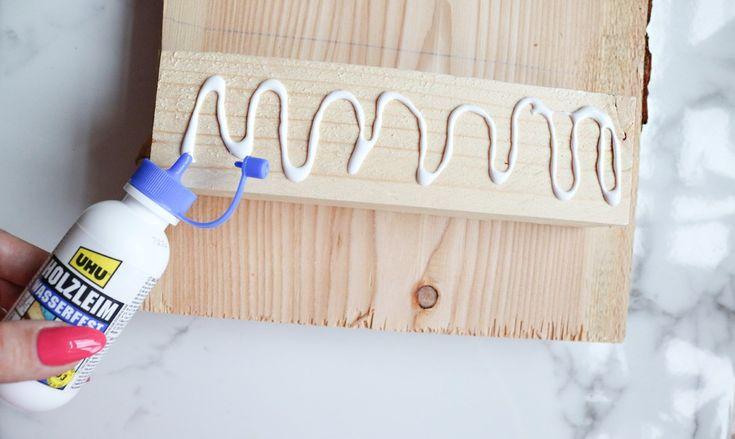 DIY Badewannenablage aus Holz selber machen Selber
