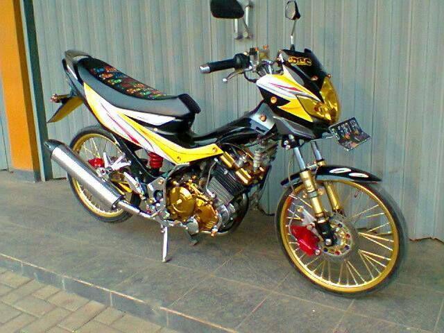 gambar foto modifikasi motor satria fu 2010