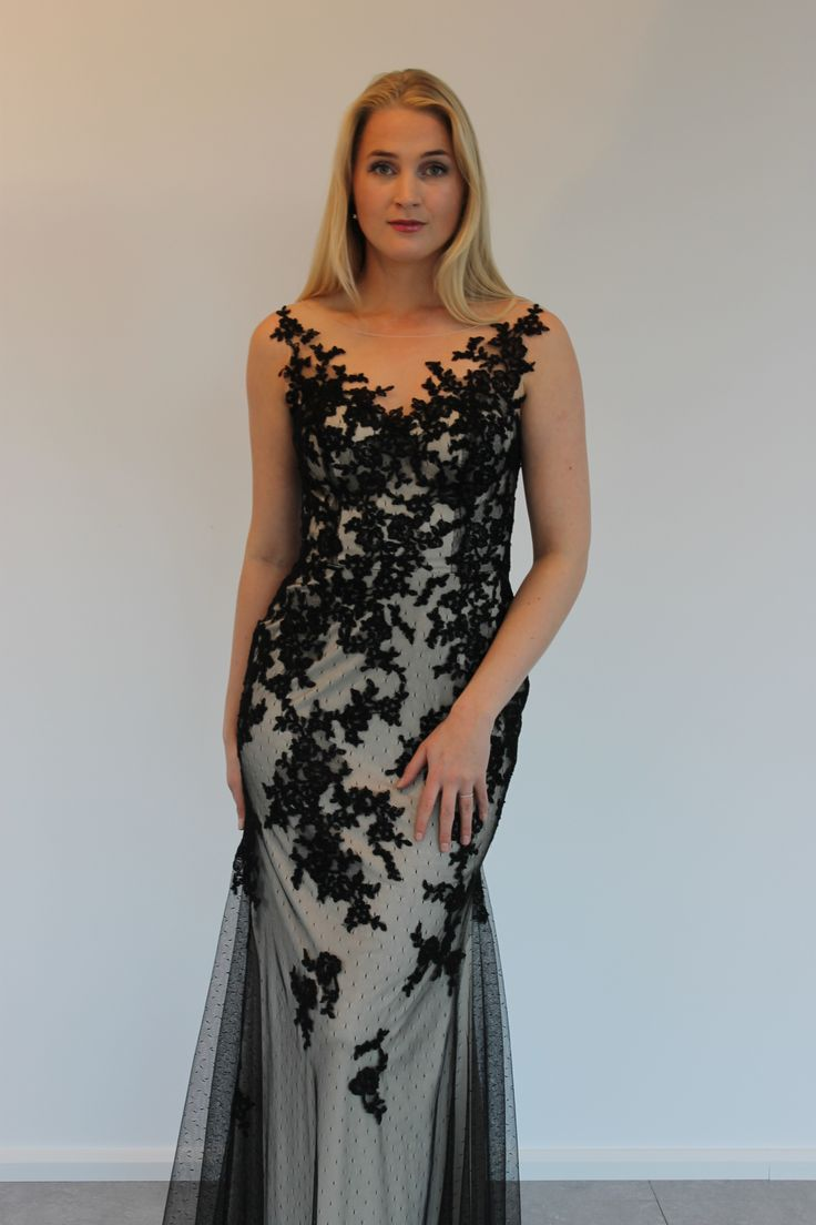 Lace dress black/gold can also come in ivory from By Kris of Norway