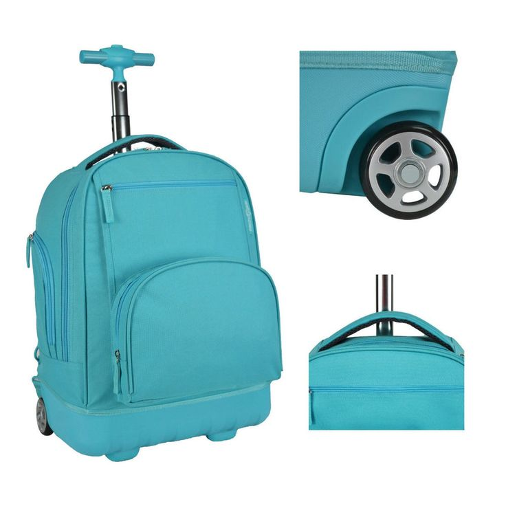 Kids Rolling Backpack Book-Bag School Wheeled Trolley Tote Travel Carry Luggage  #Bookbag