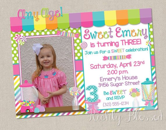 the 25+ best candy land invitations ideas on pinterest | candy, Birthday invitations