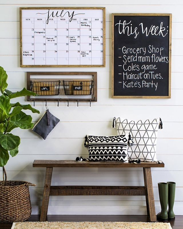 Keep your family organized & up-to-date with an on-trend command center! Shop this look in-store. #HobbyLobbyStyle