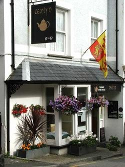 Harlech - Cemlyn Tea Rooms - multi award winning tea rooms with stunning views of Harlech Castle and Cardigan Bay from the rear.  Dogs welcome on deck at rear