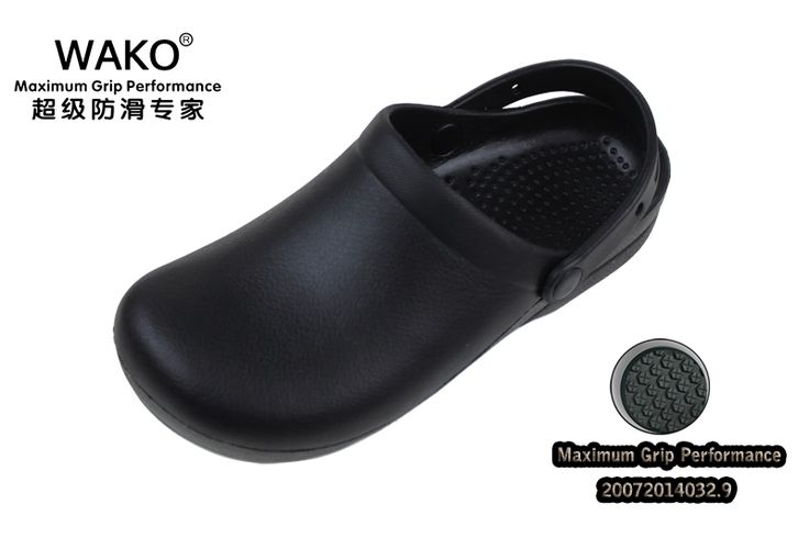2016 Wako обувь шеф-повар рабочая обувь не скользит обувь мужчина обувь сандалии кухня cookhouse сабо черный размер 39-44 gfe9011