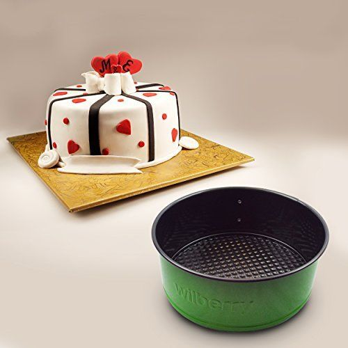 Springform Pans Set of 3 | Two Round & One Heart-Shaped Cheesecake Pans | Leak Resistant & Top Rack Dishwasher Safe
