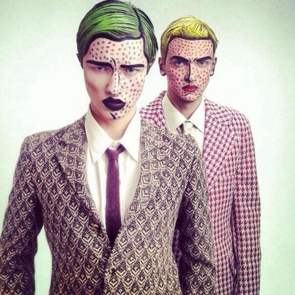 I love pop art makeup! This is the coolest I've ever seen, too!