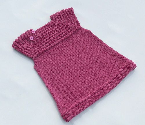 My absolute FAVORITE knitting pattern for making baby dresses or toddler tunics