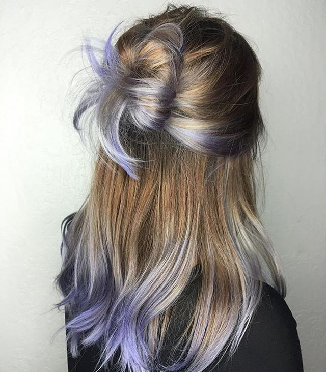 Touches of lavender  #regram @chellsiedanielle #americansalon