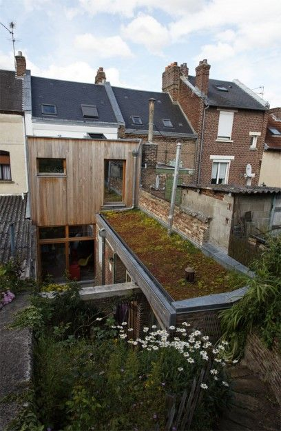 Extension d une maison de ville en coconstruction for Extension maison 59