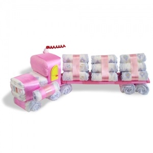 log truck diaper cake