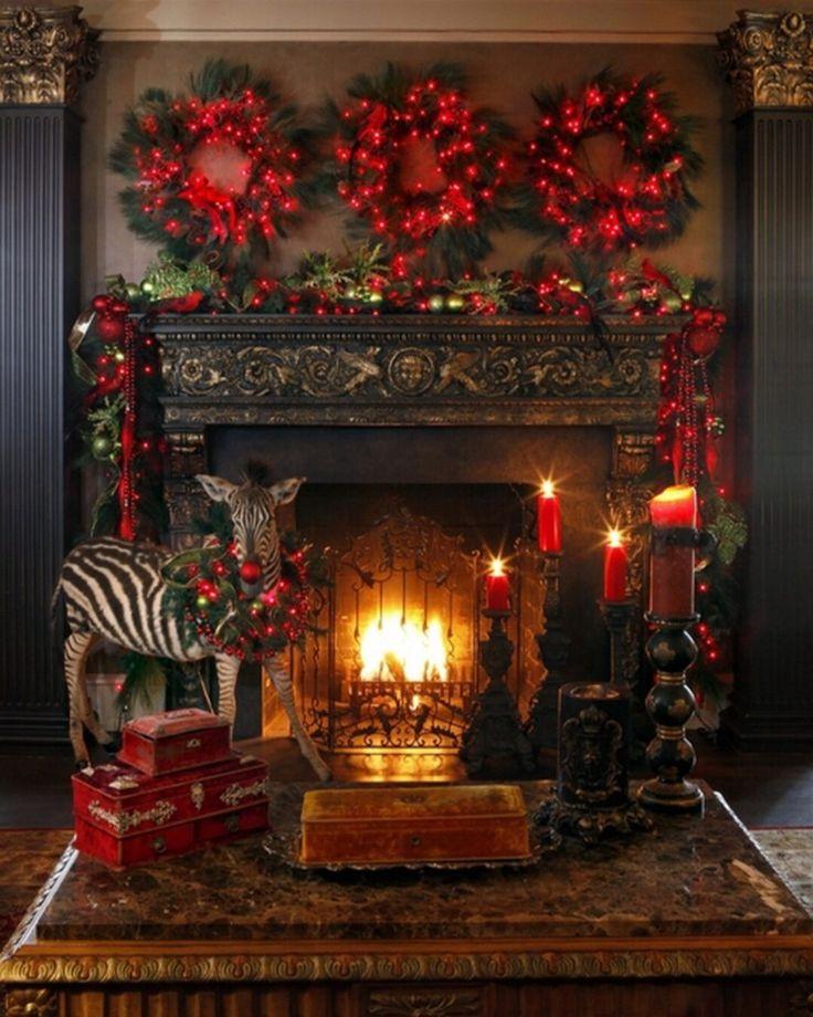 1188 Best Christmas Mantels Images On Pinterest Christmas Ideas Christmas Mantels And Xmas